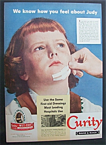 1951 Curity Adhesive Tape with Girl's Chin Bandaged (Image1)