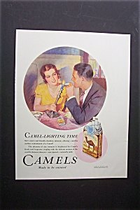 1931 Camel Cigarettes with Woman Holding a Candle (Image1)
