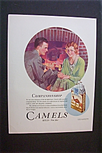 1931 Camel Cigarettes with a Man Smoking a Cigarette (Image1)