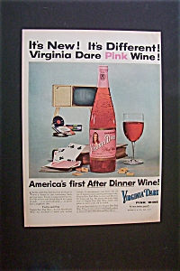 1956 Virginia Dare Pink Wine