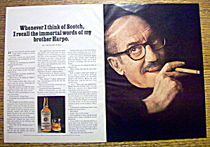 1973 Teacher's Scotch Whiskey With Groucho Marx