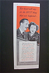 1946 2-page Ad: The Best Years Of Our Lives