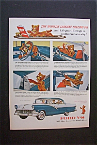 1956 Ford V-8 Automobile with a Bear (Image1)