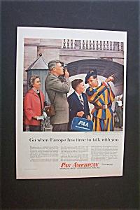 Vintage Ad: 1956 Pan American Airlines (Image1)