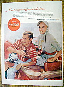 1955 Coca Cola (Coke) with Man & Woman Holding Bottles (Image1)