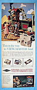 Vintage Ad: 1962 Sawyer View Master W/ Donald Duck