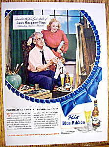 1948 Pabst Blue Ribbon Beer By James Montgomery Flagg