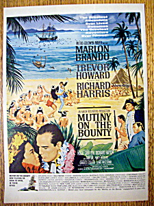 Vintage Ad: 1962 Mutiny On The Bounty W/ Marlon Brando