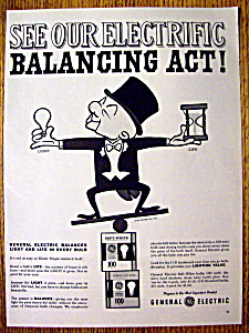 Vintage Ad: 1962 General Electric Bulbs w/Mister Magoo (Image1)