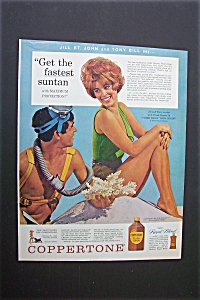 1963 Coppertone With Jill St. John & Tony Bill