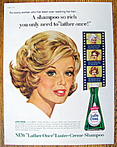 Vintage Ad: 1963 Lustre-creme Shampoo With Janis Paige