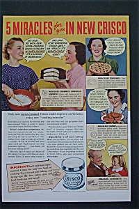 1937 Crisco Shortening with 5 Miracles with New Crisco (Image1)