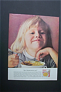 1963 Lipton Soup With Girl Eating A Bowl Of Soup