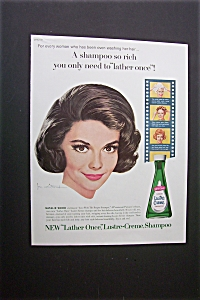 1963 Lustre-creme Shampoo With Natalie Wood