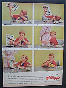 1955 Kellogg's Corn Flakes W/ 6 Scenes Of A Little Boy