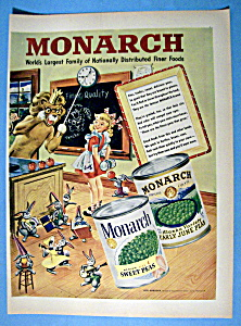 Vintage Ad: 1949 Monarch Peas