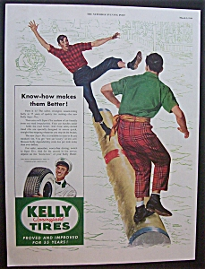 1949 Dual Ad: Kelly Tires  & Lincoln  Cars (Image1)