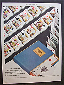 1946 Congress Playing Cards With Playing Cards Laid Out