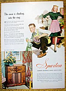 Vintage Ad: 1947 Sparton Radio (Image1)