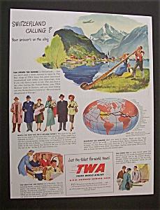 Vintage Ad: 1948 TWA -Trans World Airline (Image1)