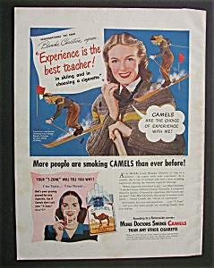 1948 Dual Ad: Camel Cigarettes & Talon Fasteners (Image1)