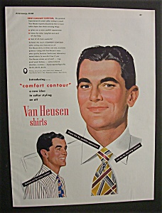 1948 Dual Ad: Van Heusen Shirts & Old  Thompson (Image1)