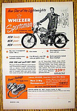 1950 Whizzer Sportsman Motor Bike (Image1)