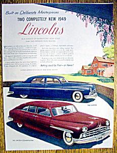 Vintage Ad: 1949 Lincoln & Lincoln Cosmopolitan (Image1)