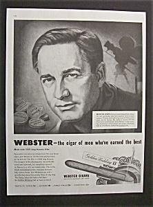 Vintage Ad: 1949 Webster Cigars with Mervyn Leroy (Image1)