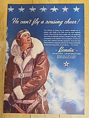 1942 Bendix Aviation With Pilot Looking At The Sky