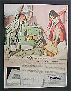 Vintage Ad: 1950 Pacific Contour Sheets (Image1)