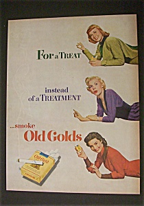1951 Old Gold Cigarettes