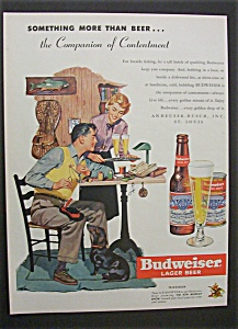 1951 Dual Ad: Budweiser Beer & 1951 Ford