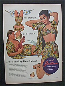 1951 Jantzen Clothing with Family Wearing Same Design (Image1)
