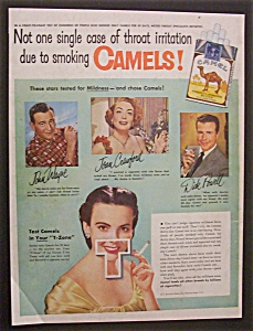 1951 Camel Cigarettes With Wayne, Powell & Crawford
