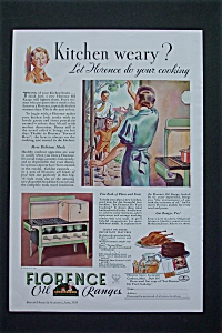 1934 Florence Oil Ranges with Kitchen Weary  (Image1)