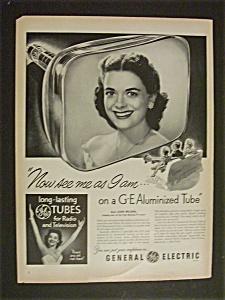 Vintage Ad: 1951 GE Aluminized Tubes with Jane Wilson (Image1)