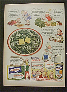 1951 Birds Eye Orange Juice & Frozen Foods