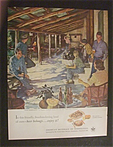 1951 Beer Belong Texas Hospitality By Douglas Crockwell