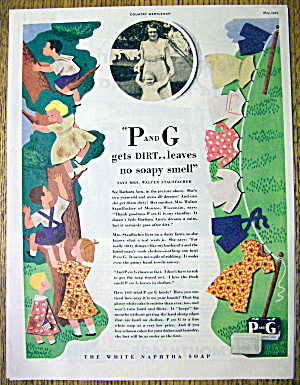1934 P & G The White Naphtha Soap w/Clothes Hanging (Image1)