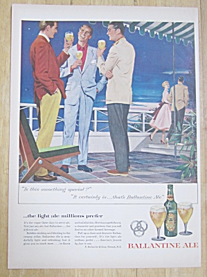 1954 Ballantine Ale with Men Talking While Having Beer  (Image1)