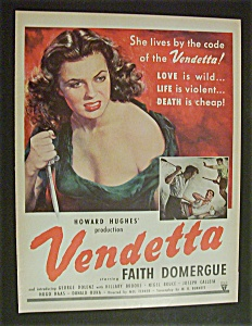 1951 Movie Ad For Vendetta