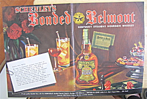 1938 Schenley's Whiskey With Drinks