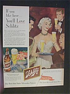 Vintage Ad: 1952 Schlitz Beer (Image1)