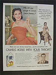 1952 Camel Cigarettes With Linda Darnell