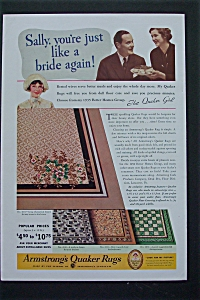 1935 Armstrong's Quaker Rugs with Sally & The Rug (Image1)