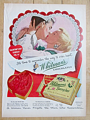 1955 Whitman's Sampler with Man & Woman Kissing  (Image1)