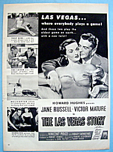 Vintage Ad: 1952 The Las Vegas Story W/ Jane Russell
