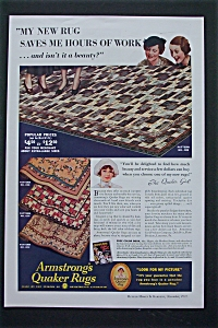 1935 Armstrong's Quaker Rugs with A New Rug  (Image1)
