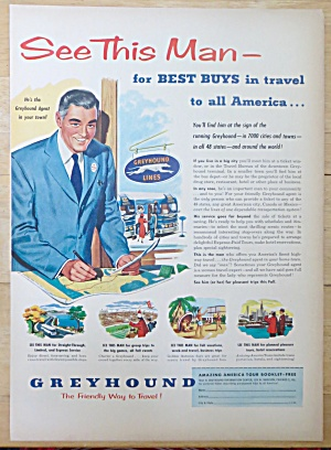 1952 Greyhound with Agent Drawing on a Map  (Image1)